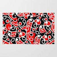maori Area & Throw Rugs featuring Maori Kowhaiwhai Patchwork Pattern by mailboxdisco