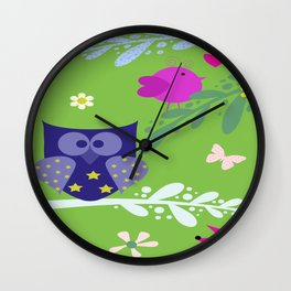 In forest Wall Clock