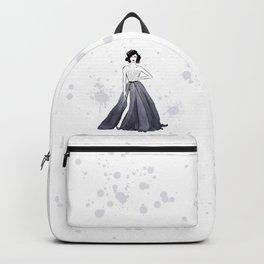 Girl in grey Backpack