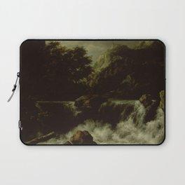 Jacob Isaacksz van Ruisdael - Mountainous Landscape with Waterfall Laptop Sleeve