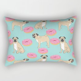 Pug lover food dog breed gifts pure breed pugs donuts doughnuts Rectangular Pillow