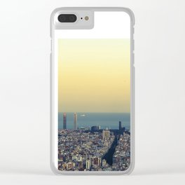Barcelona view Clear iPhone Case