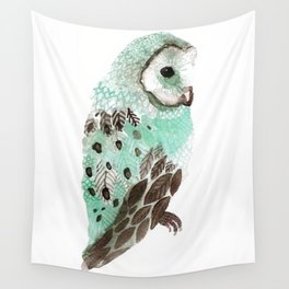 Watercolour Owl Wall Tapestry