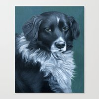 border collie Canvas Prints featuring Border Collie by MMGoldenArt