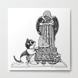 Mourning Grave Metal Print