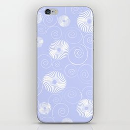 White Spirals iPhone Skin