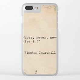 Winston S. Churchill quote x 1 Clear iPhone Case