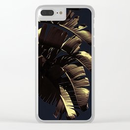Golden Palm Clear iPhone Case