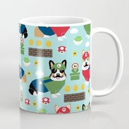 Corgi Video Game fabric - video game, cute, dog, dogs, cosplay, costume, dress up, corgi con, conven Coffee Mug