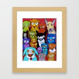 Watching Cats Framed Art Print