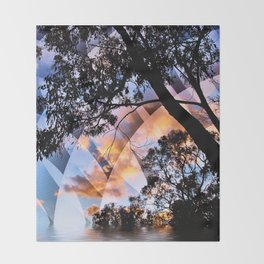 Digital Nature Throw Blanket