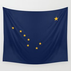 Alaska State Flag - Authentic version Wall Tapestry