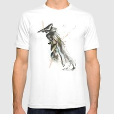 Drift Contemporary Dance Two MEDIUM White Mens Fitted Tee
