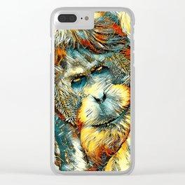 AnimalArt_OrangUtan_20170901_by_JAMColorsSpecial Clear iPhone Case