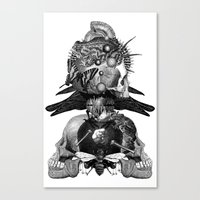 totem Canvas Prints featuring Totem by DIVIDUS
