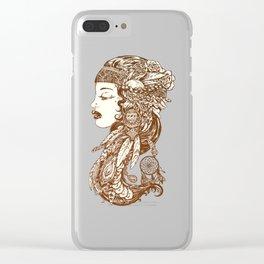 Gypsy Girl Clear iPhone Case