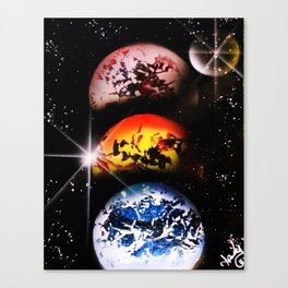 One World Over Canvas Print