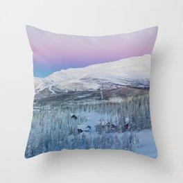 The Snow Mountains (Color) Throw Pillow