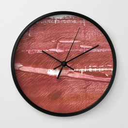 Red Brown nebulous wash drawing pattern Wall Clock