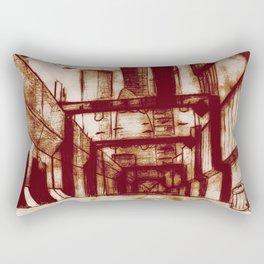 Mr. Incredible Sketches an Alley Rectangular Pillow