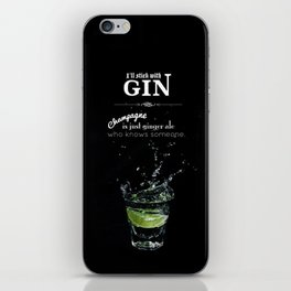 GIN iPhone Skin