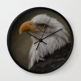 Eagle Portrat Wall Clock