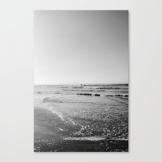 Surfing Monochrome Canvas Print