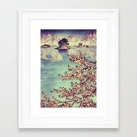 sunset Framed Art Prints featuring Watching Kukuyediyo by Kijiermono