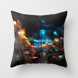 PORTLAND OREGON - GLOWS IN THE RAIN AND NIGHT LIGHTS Throw Pillow