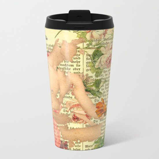 Rose Boy Metal Travel Mug