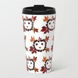 Happy Smiling Autumn Face #1 #pattern #decor #art #society6 Travel Mug