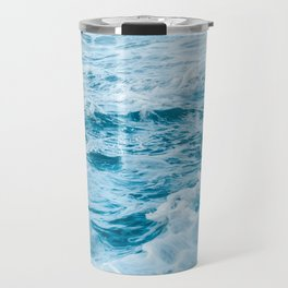 Marble Turquoise Teal Waves Tropical Beach Travel Mug