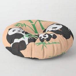 panda family Floor Pillow
