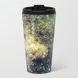 Galaxy Gold & Blue Stars Travel Mug