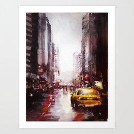 New york painting Art Print