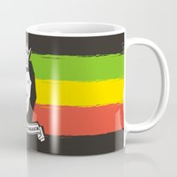 rasta Mugs featuring Rasta Lion by Awesome
