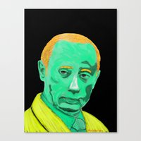 putin Canvas Prints featuring green putin by Sam Vasilevsky