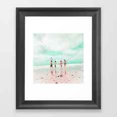 Four & the Beach Framed Art Print