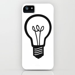Simple Light Bulb iPhone Case