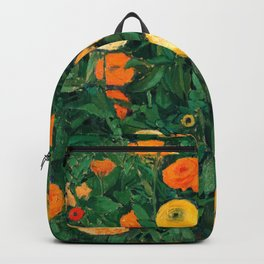 Marigolds by Koloman Moser, 1909 Backpack