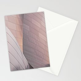 Sunrise architectural abstract of the LA Phil designed by Frank Gehry Stationery Cards