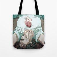 will graham Tote Bags featuring Remarkable Boy (Will Graham) by Pana Stamos