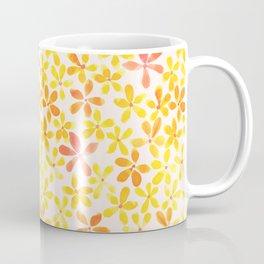 Retro Flowers - Yellow and Orange Coffee Mug