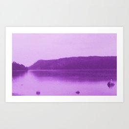 Purple Haze on Midsummer Eve Art Print