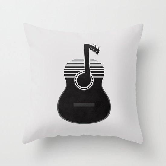Classical Notes Throw Pillow