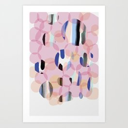 Pink Abstract Platelet #expressive #pink Art Print