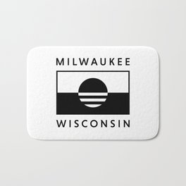 Milwaukee Wisconsin - White - People's Flag of Milwaukee Bath Mat