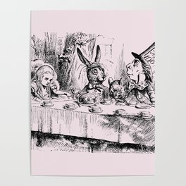 Blush pink - mad hatter's tea party Poster