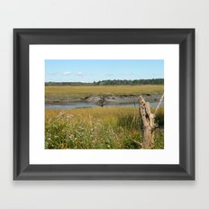 Scarborough Marsh Framed Art Print