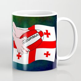 Rugby Georgia Flag Coffee Mug